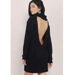 Ayda Cowl Neck Sweater Dress